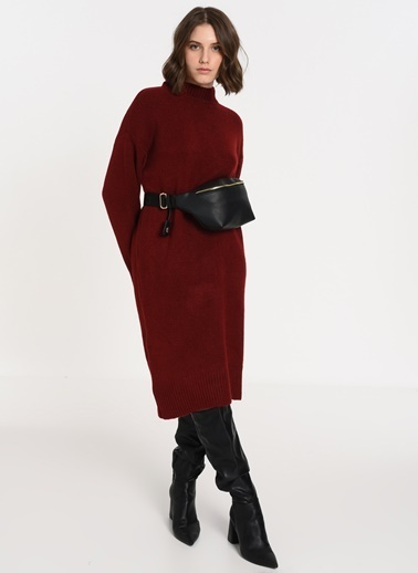 F By Fabrika Kadın Kırmızı Bel Çantası BIANCA Siyah